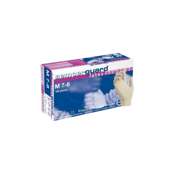 semperguard disposable latex gloves
